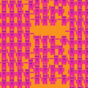 little robot binary code fabric