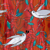 love birds stained glass