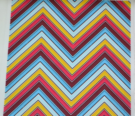 Yellow Pink Sky Chevron