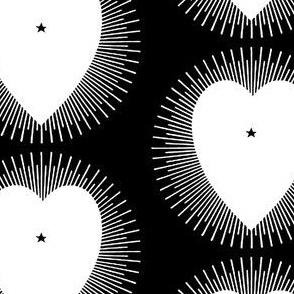 Mono Heart Sunburst