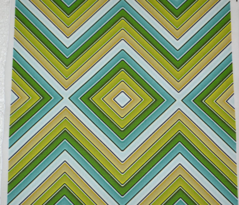 Yellow Green and Teal Chevron Boxes, Mirror