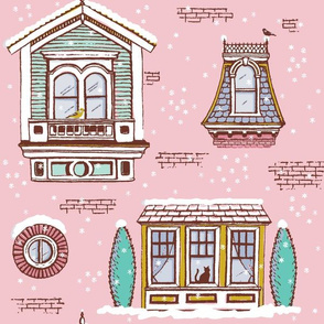 Victorian Winter Windows