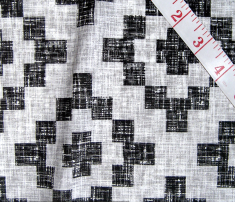 Pale gray + black + white weave West by Southwest by Su_G