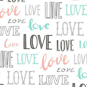 Love Word Typography Valentine