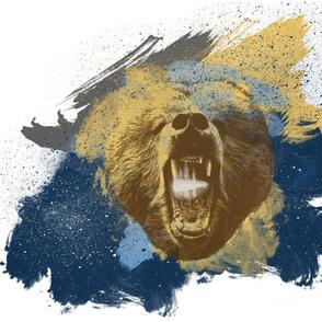 roaring bear pillow size