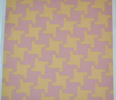 Pink and Yellow Square Houndstooth
