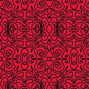 Black Inka Lipstick Red