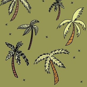 Palm Trees on Green