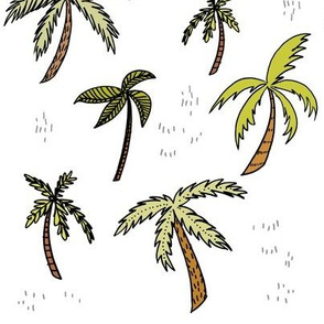 Palm Trees on White