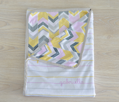 Gold Silver Pink Chevron Arrows