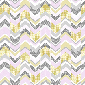 Gold Silver Pink Chevron Arrows