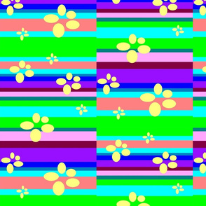5.ColourBands.1+flowers.half-drop