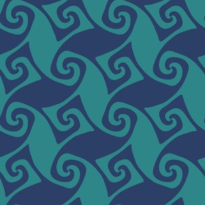 trellis - navy and teal