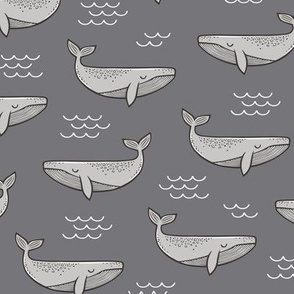 Whales on Dark Grey