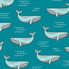 Whales on Aqua