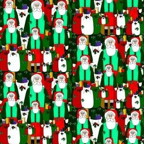 Santa Christmas &  Mistletoe Fabric #10