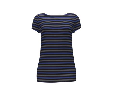 Stripes Blue Grey