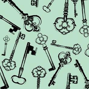 Antique Keys - Jade