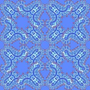 Feathery Blue Denim Kaleidoscope