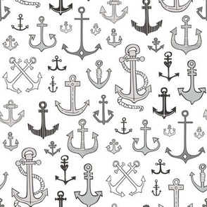 Anchors Black&White Grey