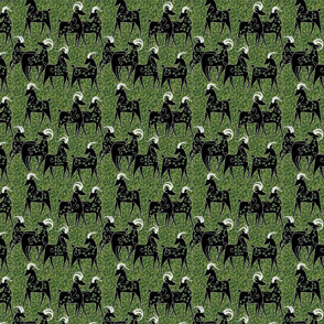 goats in a field 5 inch repeat