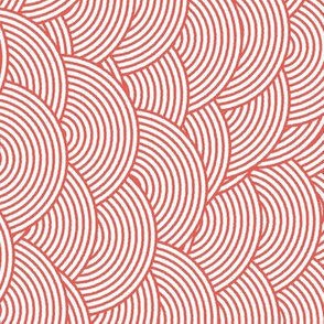 Concentric Hills - Coral - Rotated