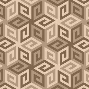 greek cube : hemp khaki brown