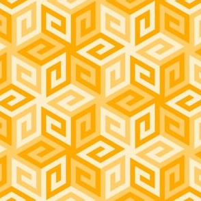 greek cube : golden orange