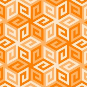 greek cube : tangerine orange