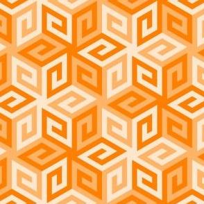 greek cube : tangerine orange