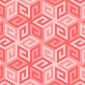 greek cube : light red rose pink