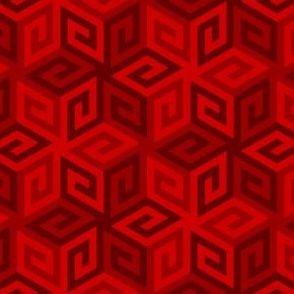 greek cube : blood red scarlet
