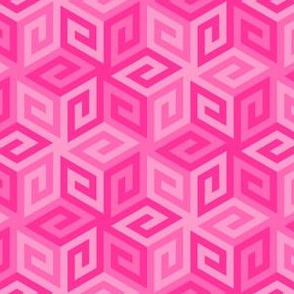 greek cube : pink
