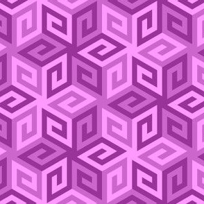 greek cube : magenta purple