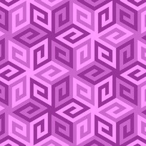 greek cube : magenta purple