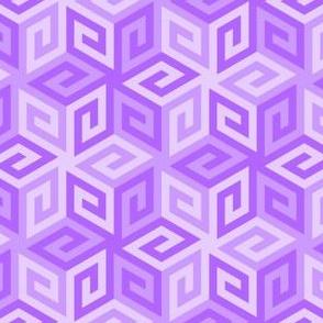 greek cube : violet mauve lilac
