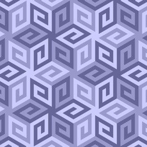 greek cube : lavender blue