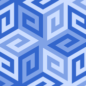 greek cube : sapphire blue