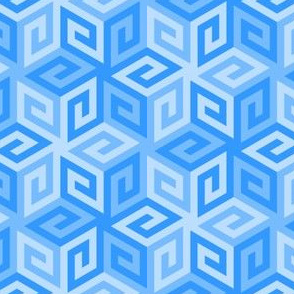 greek cube : azure blue