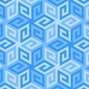 greek cube : azure blue