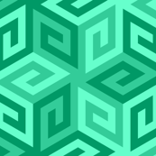 greek cube : jade green