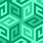 greek cube : jade green