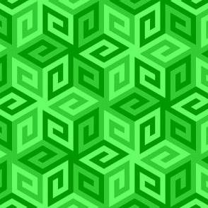 greek cube : emerald green