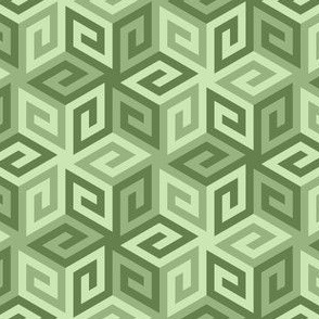 greek cube : khaki limestone green