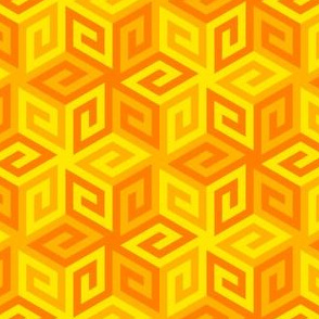 greek cube : yellow orange