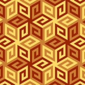 greek cube : terracotta