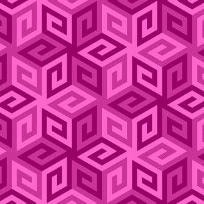 greek cube : blackcurrant pink-purple