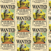 Sogeking's wanted poster from One Piece