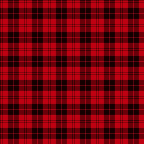 "Campbell red tartan, half scale (3"")"