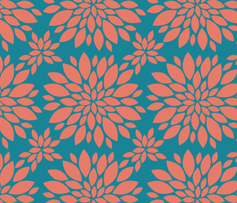 Flower-Petals-Silhouette-coral_and_teal